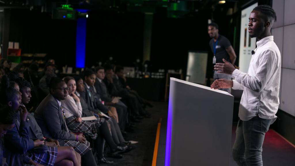 Speaking at the Google Office